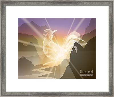 Harbinger Of Light Framed Print by Alice Chen