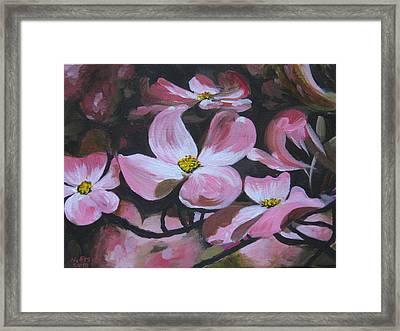 Harbinger Of Spring Framed Print by Outre Art  Natalie Eisen