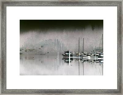 Harbor And Boats Framed Print by John Rossman