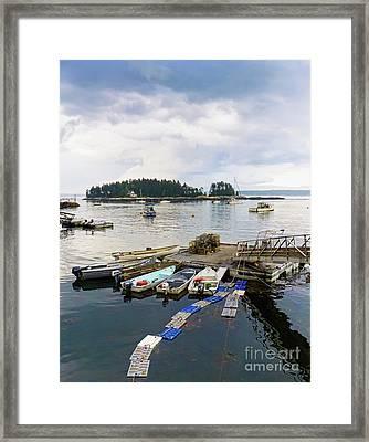 Harbor At Georgetown Five Islands, Georgetown, Maine #60550 Framed Print