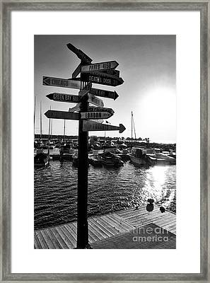 Harbor At Sundown Framed Print
