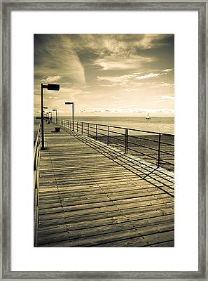 Harbor Beach Michigan Boardwalk Framed Print