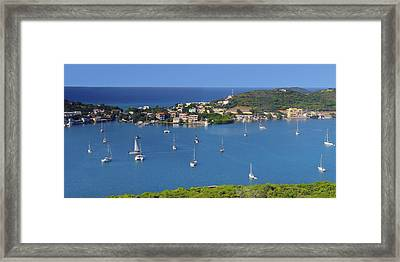 Harbor Blues Framed Print by Stephen Anderson
