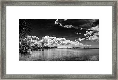 Harbor Bluffs Framed Print