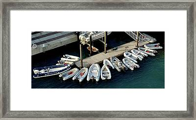 Harbor Boats Framed Print