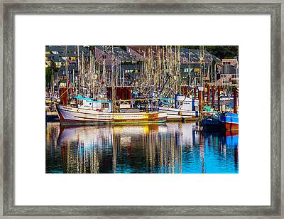 Harbor Boats Framed Print by Garry Gay