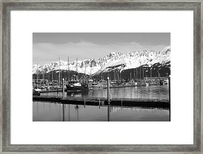 Harbor Boats Framed Print by Ty Nichols