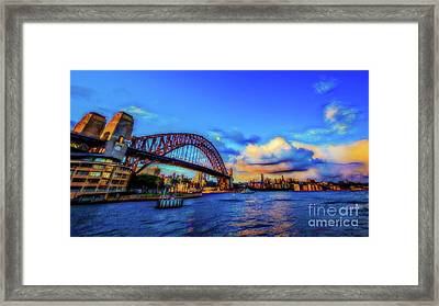 Framed Print featuring the photograph Harbor Bridge by Perry Webster