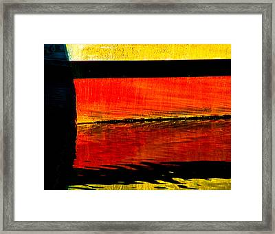 Harbor Colors Framed Print by Craig Perry-Ollila