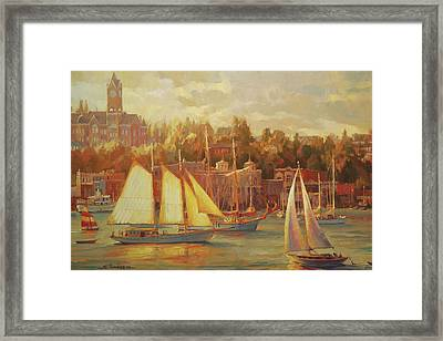 Harbor Faire Framed Print