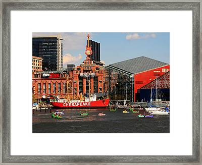 Harbor Fun Framed Print