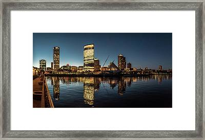Framed Print featuring the photograph Harbor House View by Randy Scherkenbach