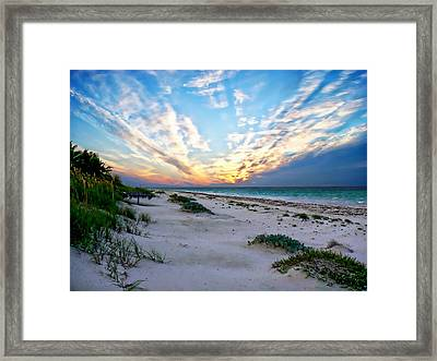 Harbor Island Sunset Framed Print