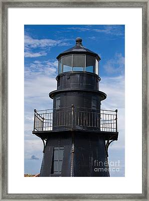 Harbor Light And Fort Jefferson Framed Print by Jason O Watson