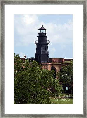 Harbor Light Fort Jefferson Dry Tortugas National Park Framed Print by Jason O Watson