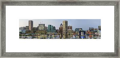 Harbor Lights - From Federal Hill - Color Pano Framed Print