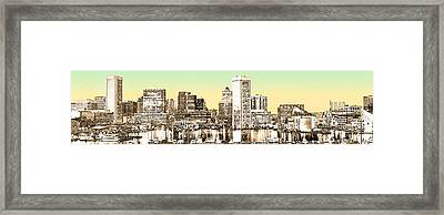 Harbor Lights From Federal Hill - Drawing Fx Framed Print