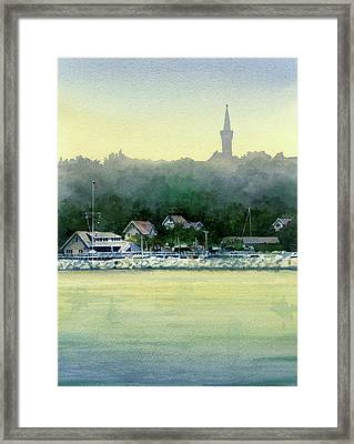 Harbor Master, Port Washington Framed Print