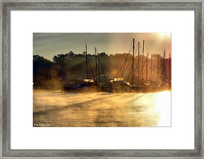 Framed Print featuring the photograph Harbor Mist by Brian Wallace