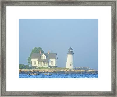 Harbor Mist Framed Print