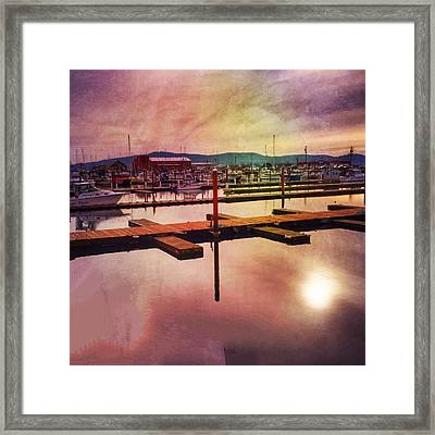 Framed Print featuring the photograph Harbor Mood by Chriss Pagani