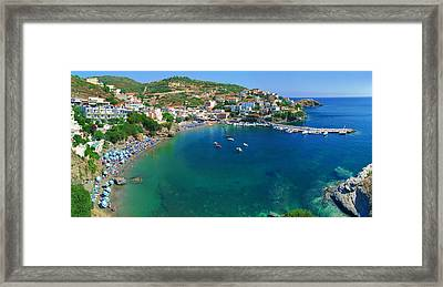Harbor Of Bali Framed Print