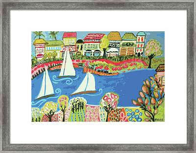 Harbor Of Gardens  Framed Print by Karen Fields