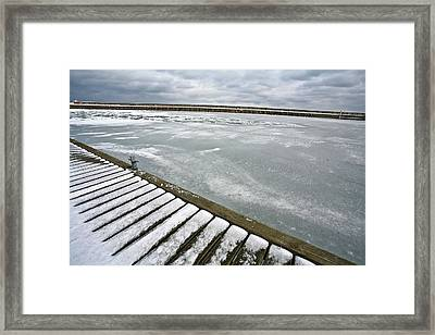 Harbor Of Rungsted Kyst In Danmark   Framed Print