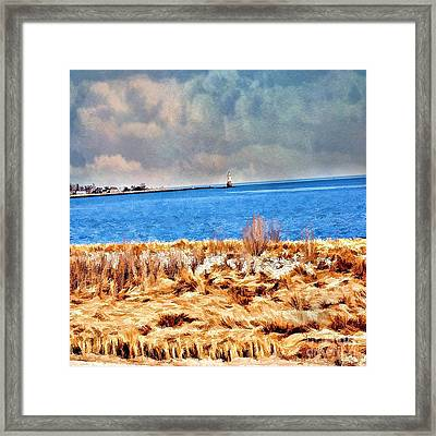 Harbor Of Tranquility Framed Print by Judy Palkimas