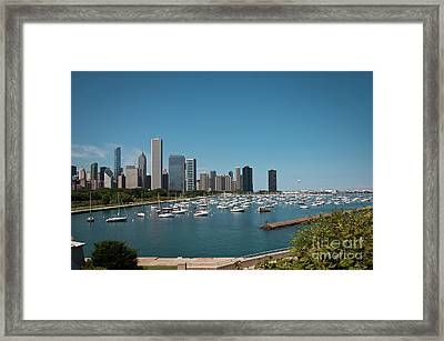 Harbor Parking In Chicago Framed Print