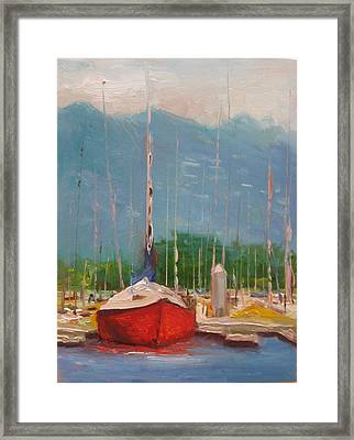 Harbor Red Framed Print by Thomas Phinnessee