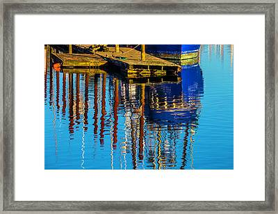 Harbor Reflections Framed Print by Garry Gay