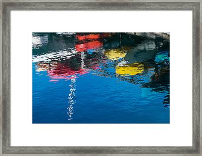 Harbor Reflections II - Abstract Photograph Framed Print