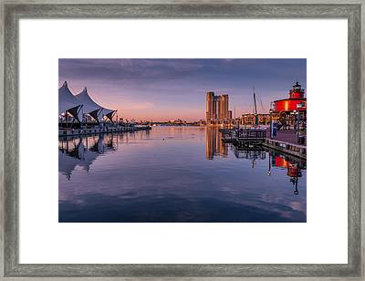 Harbor Reflections Framed Print by Jim Archer