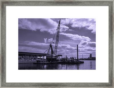 Harbor Repair Framed Print