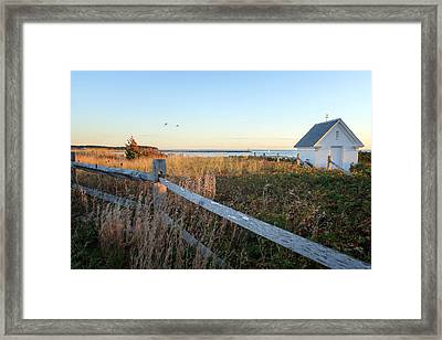 Harbor Shed Framed Print by Bill Wakeley
