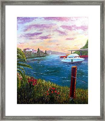 Harbor Framed Print by Stan Hamilton