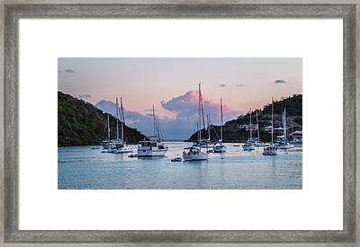 Harbor Sunset Framed Print by Alida Thorpe