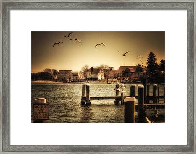 Harbor View Framed Print by Gina Cormier