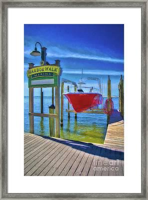 Harbor Walk At Destin Florida # 6 Framed Print by Mel Steinhauer