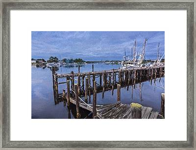 Harbor Work II Framed Print