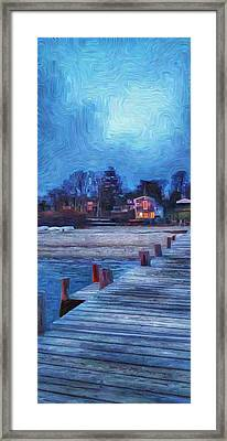 Harbormasters Office Owen Park Framed Print by Jeffrey Canha