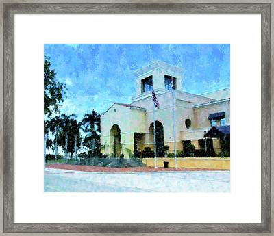 Harborside N Palms Framed Print