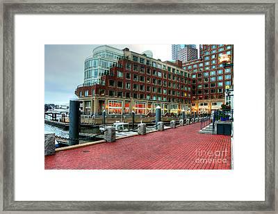 Harborwalk Framed Print