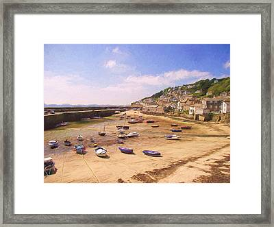 Harbour At Low Tide - Mousehole Framed Print