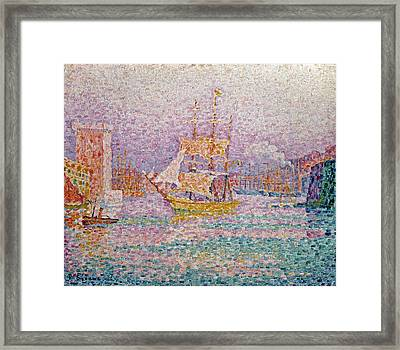 Harbour At Marseilles Framed Print by Paul Signac