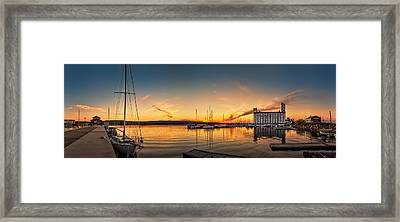 Harbour At Sunset Framed Print by Jeff S PhotoArt