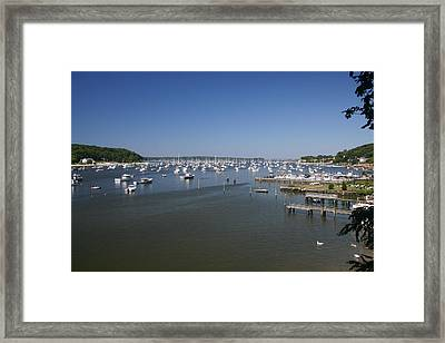 Harbour Framed Print by Dennis Curry