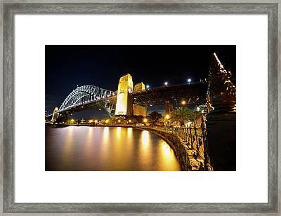 Harbour Fence Framed Print