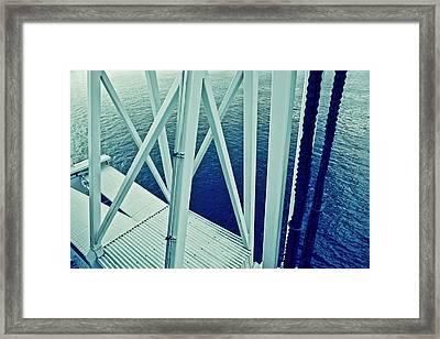 Harbour Grids Framed Print by Jarmila Kostliva